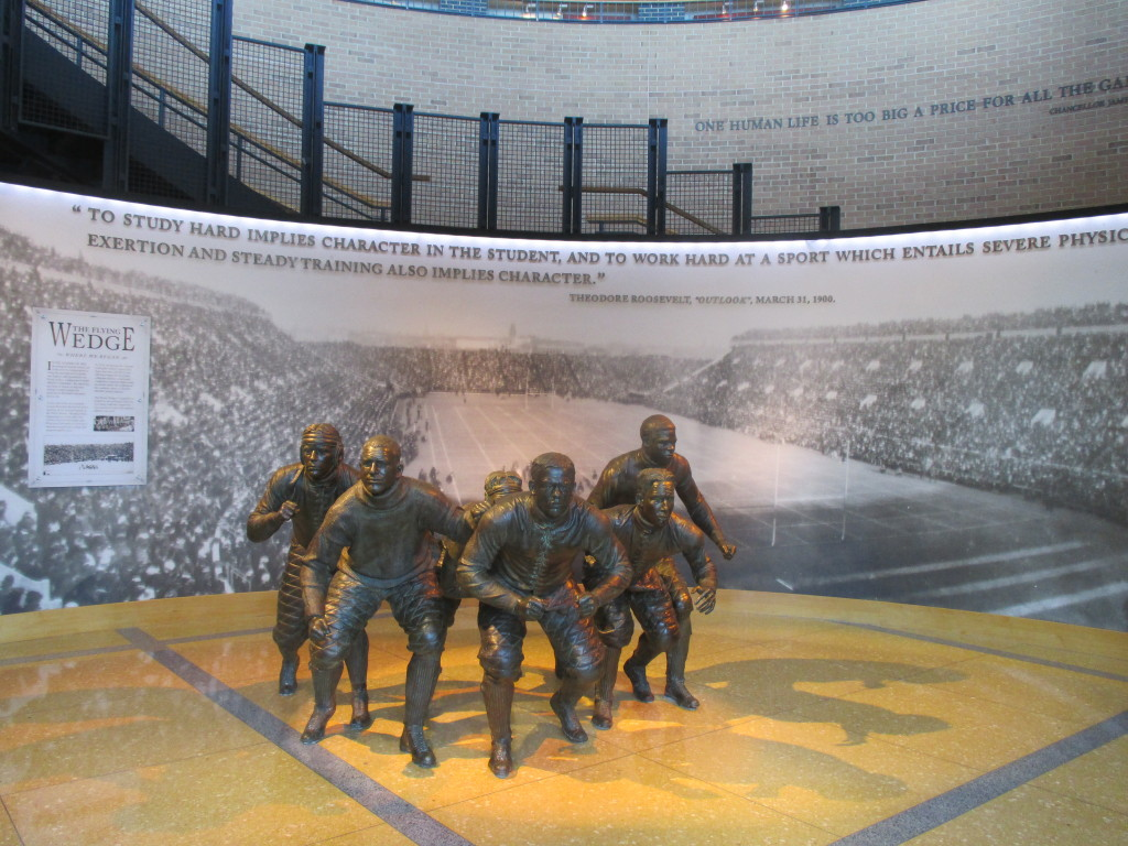The Wedge Sculpture - Entrance to the NCAA Hall of Champions