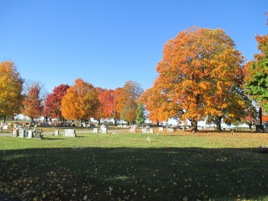 Saint Vincent's Cemetery - near Pea Ridge - beautiful colors of the trees.
