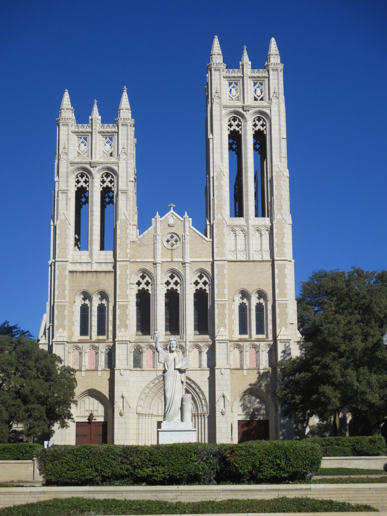 First United Methodist Church - founded in 1853.  Covers a square block.