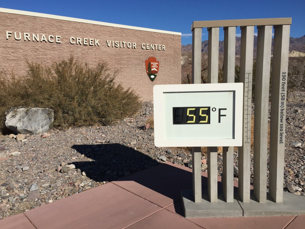 Temperature at the Death Valley Visitor Center