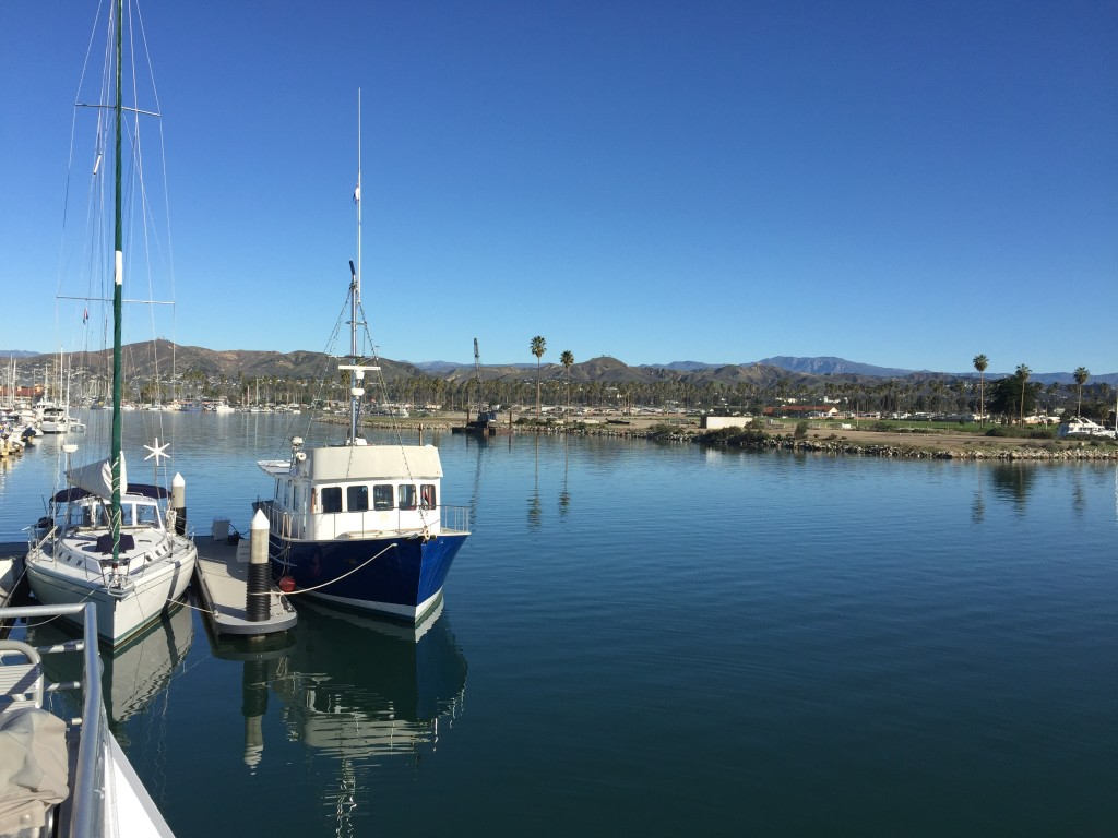 View of Ventura Harbor from our cruise boat